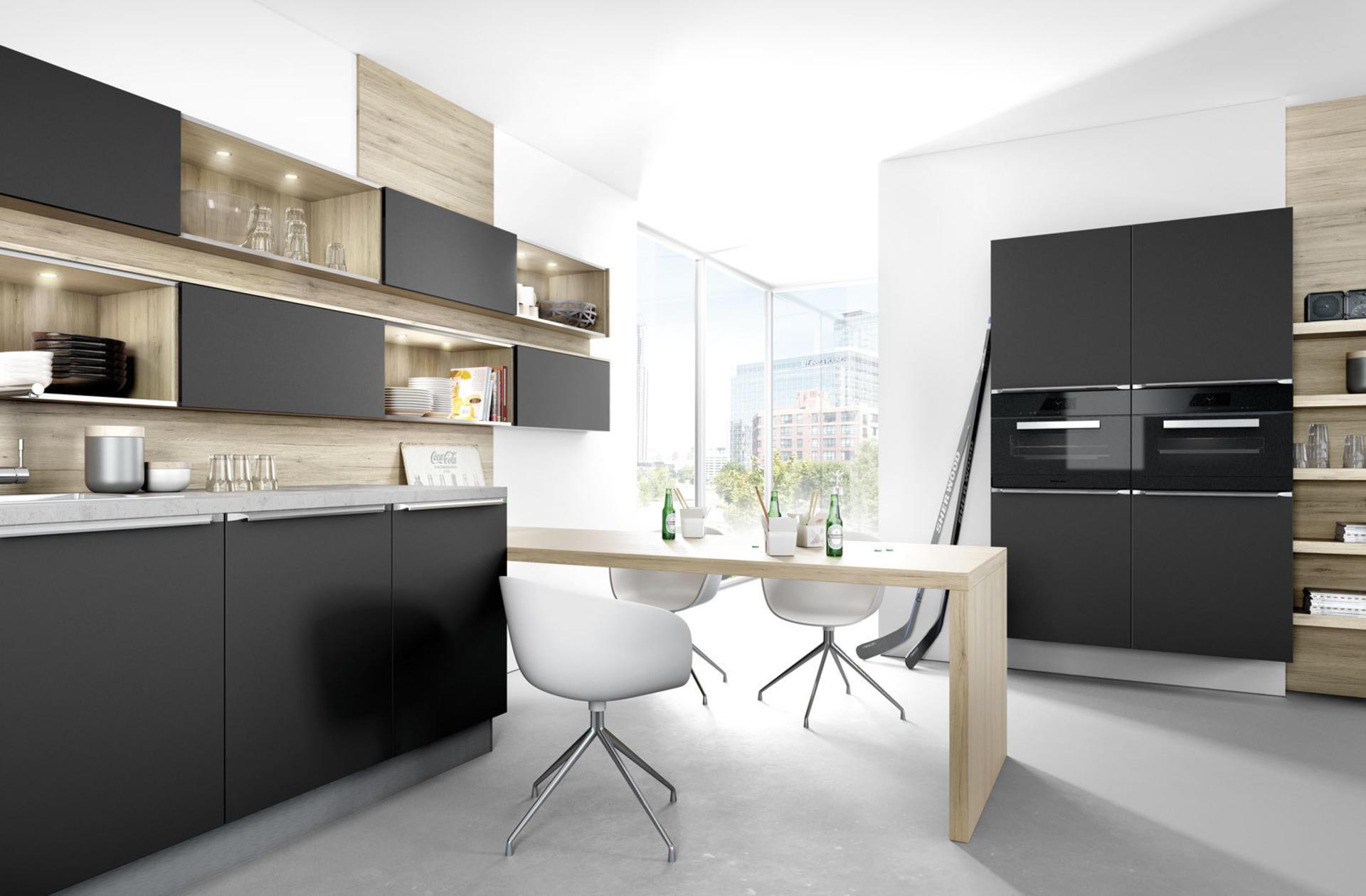 Кухни Häcker, Black matt lacquer   6000, фото 2