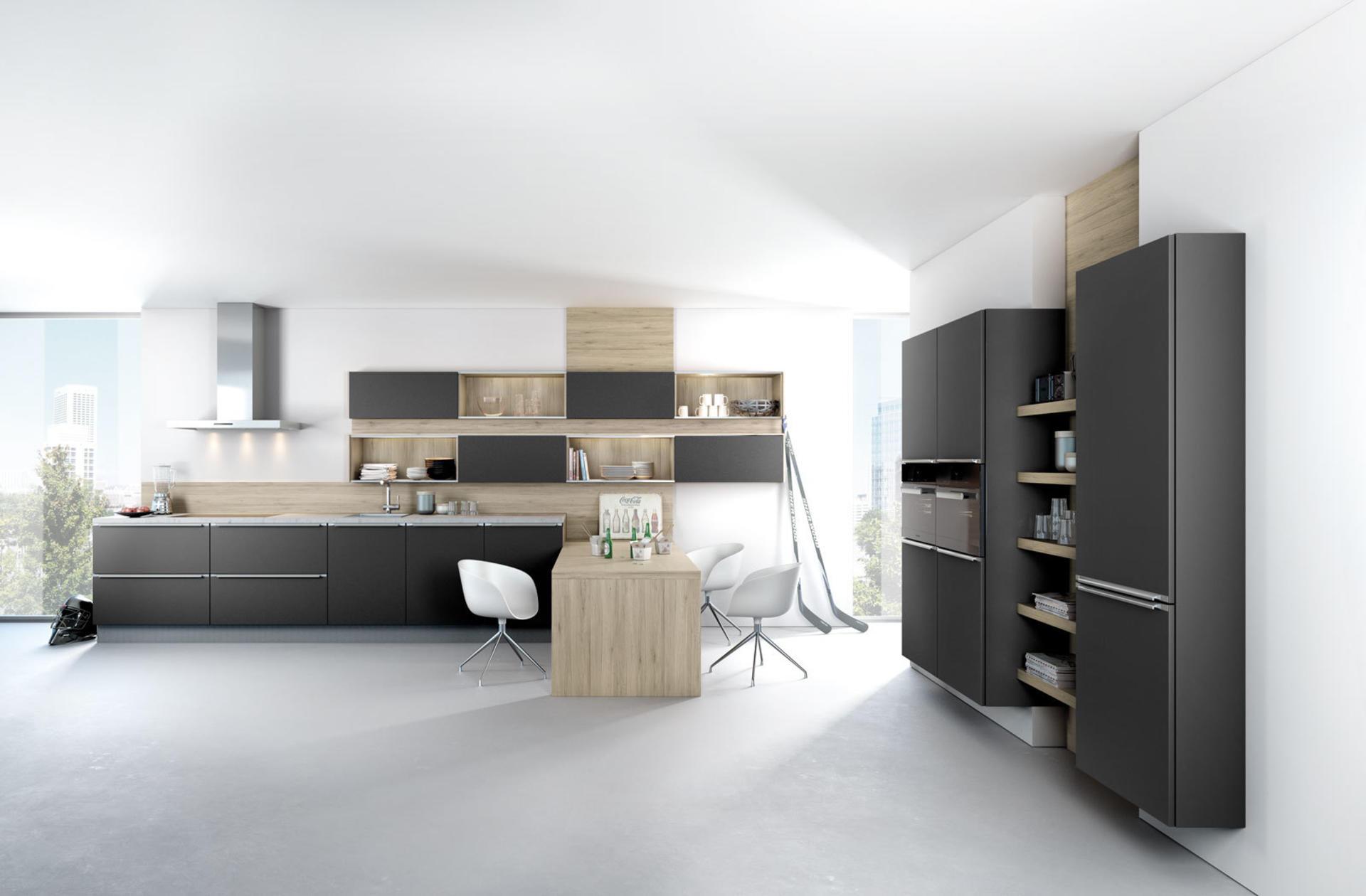 Кухни Häcker, Black matt lacquer   6000
