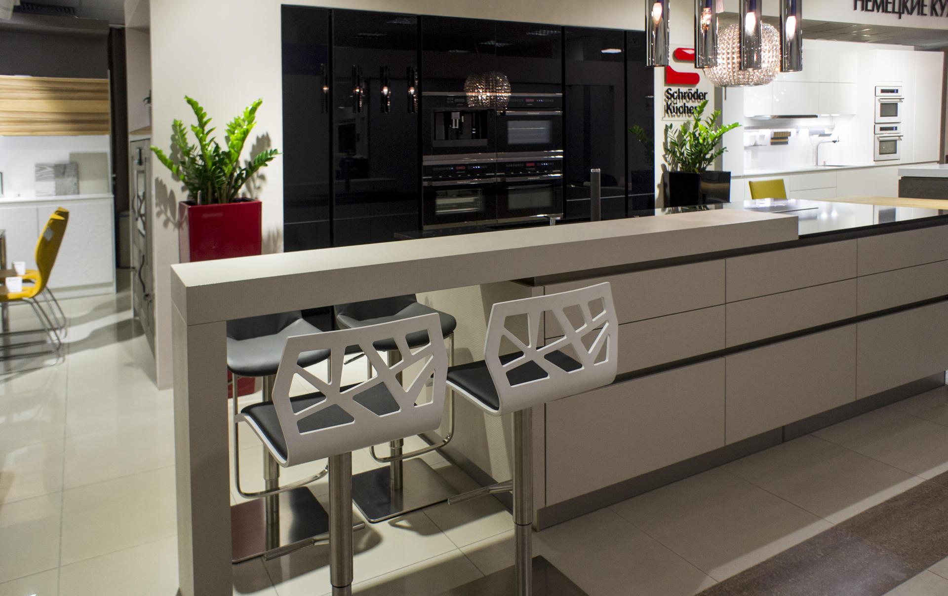 Кухня Schröder Acryl Black & Matrix Magnolie фото 2
