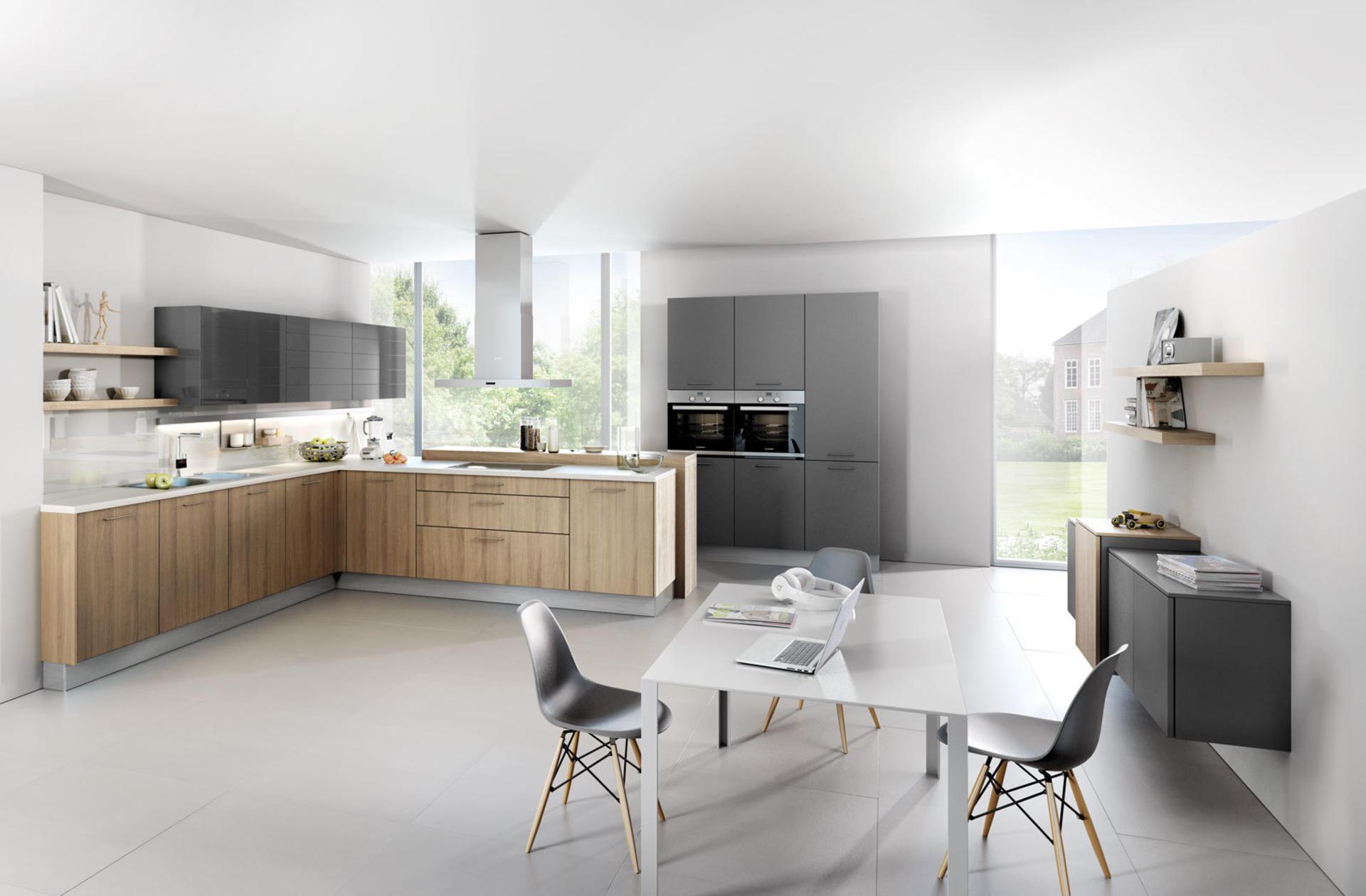 Кухни Häcker, Provence ash | Lava grey - 1095 | 1080