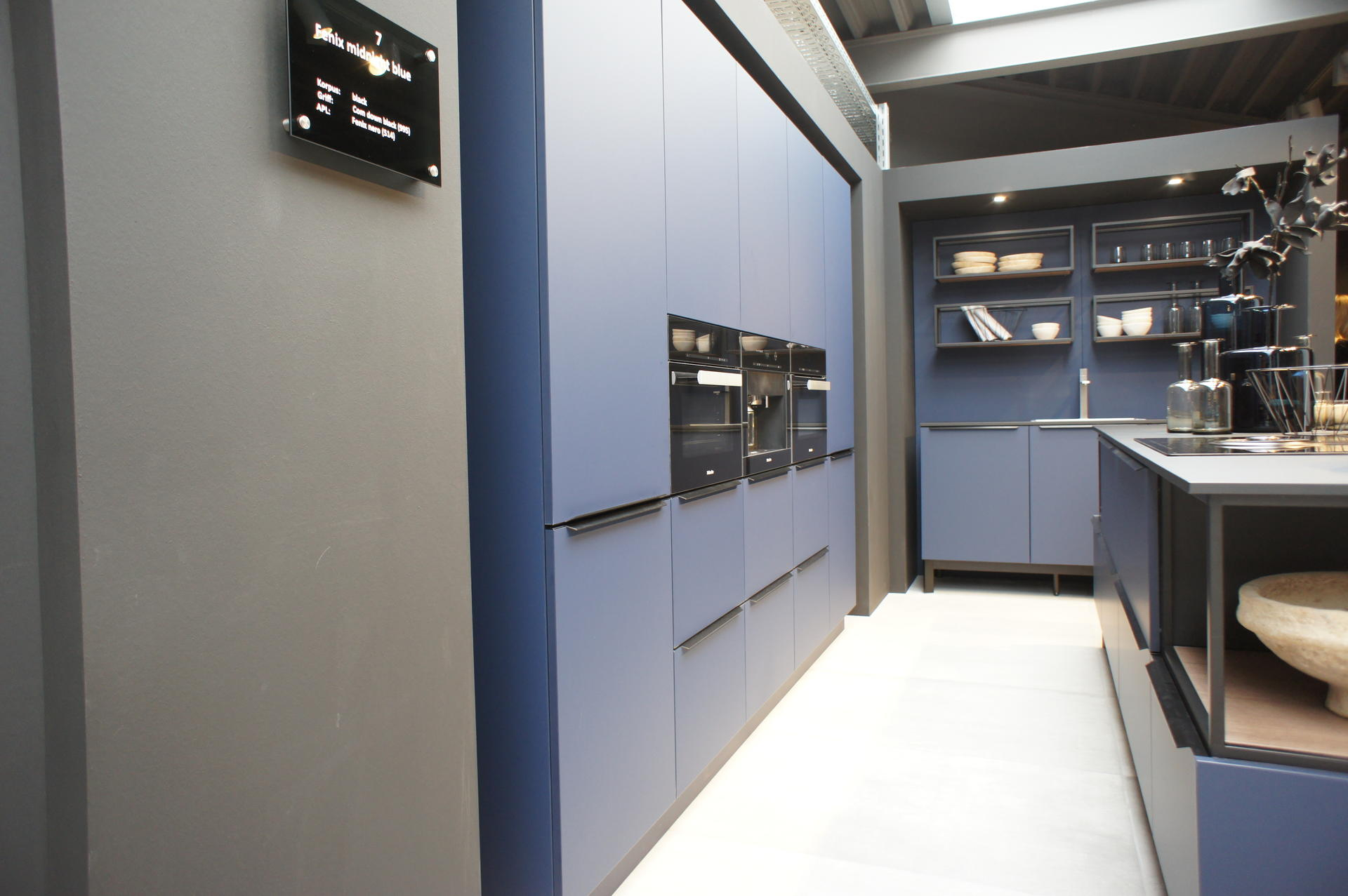 Кухни Schröder, Fenix midnight blue, фото 4