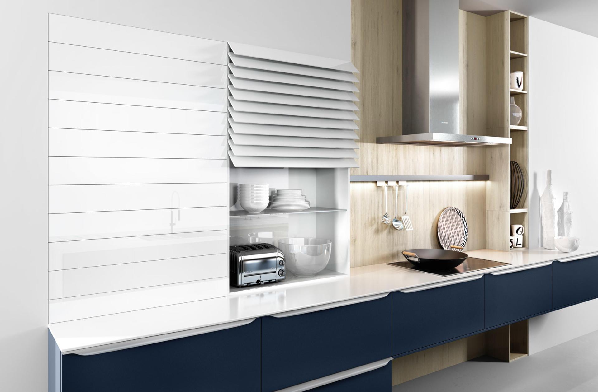 Кухни Häcker, Velvet blue lacquer | 6000, фото 2