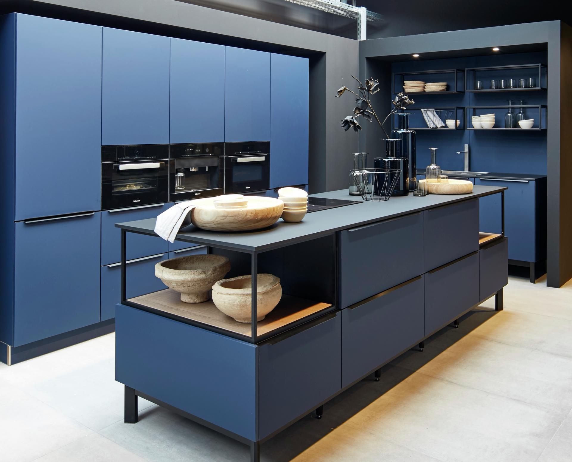 Кухни Schröder, Fenix midnight blue, фото 2
